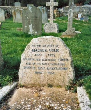 Photograph of the grave of Magnus Volk | Photo by Jennifer Drury