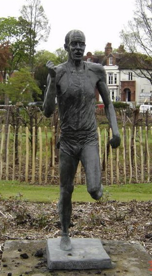 Bronze statue of Steve Ovett: Preston Park   From the private collection of Jennifer Drury