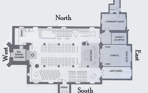 Church floor plan