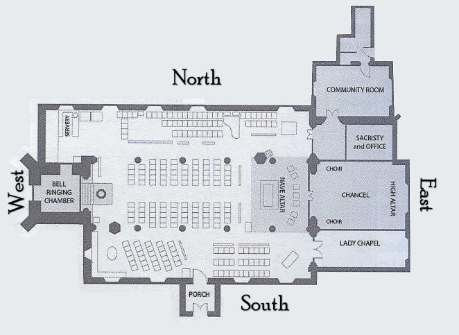 St Nicholas floor plan | Copyright St Nicholas Church