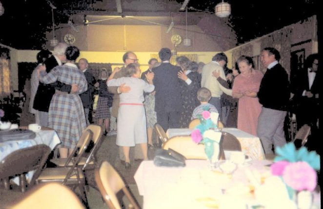 Tea Dance in the village club early 1980s | From the personal collection of Jennifer Drury