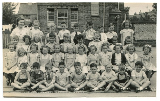 Downs County Primary School class c1952. Click on the photograph to open a large version in a new window. | From the private collection of Martin Bivand