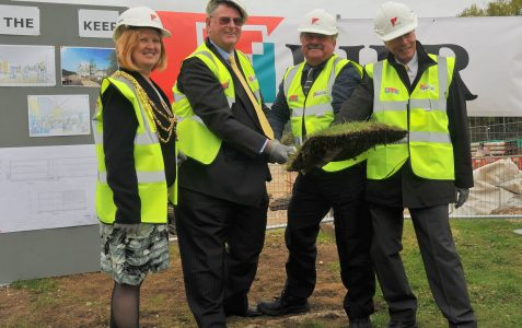 The Keep: turf cutting ceremony