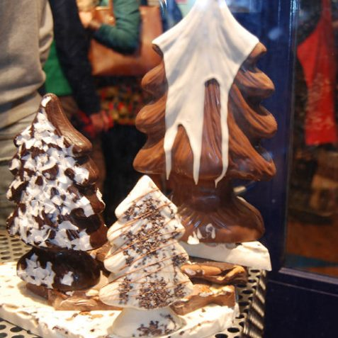 Festive chocolate on sale in 'The Lanes' | Photo by Tony Mould