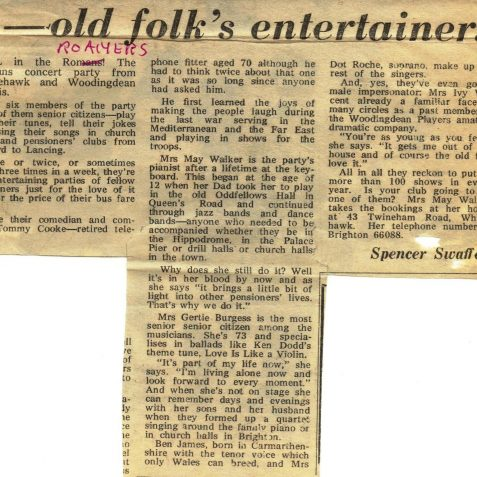 Newspaper clipping | From the private collection of Marion Goodwin