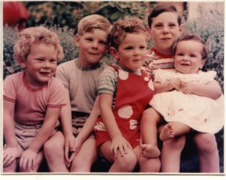 Five Saul grandchildren | From the private collection of Julian Saul