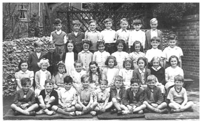 St Joseph's School class of 1954 | From the private collection of Anthony Daly