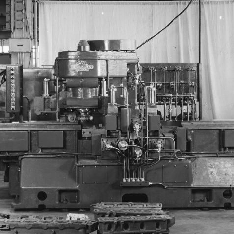 Early Travelling Head Milling Machine for Ford Cylinder Head c. 1967 | From the private collection of Peter Groves