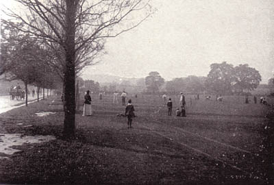 Preston Park tennis courts | Scanned from an original copy of '67 Views of Brighton, Hove and Neighbourhood', circa 1910, by kind permission of David Burgess
