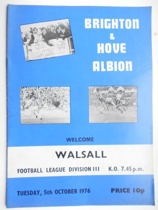 Match programme | From the private collection of Paul Clarkson