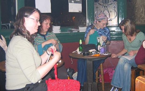 Threadbare knitters at the Hobgoblin