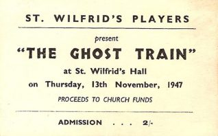 Ticket for amateur production of the Ghost Train | From the private collection of Rita Denman