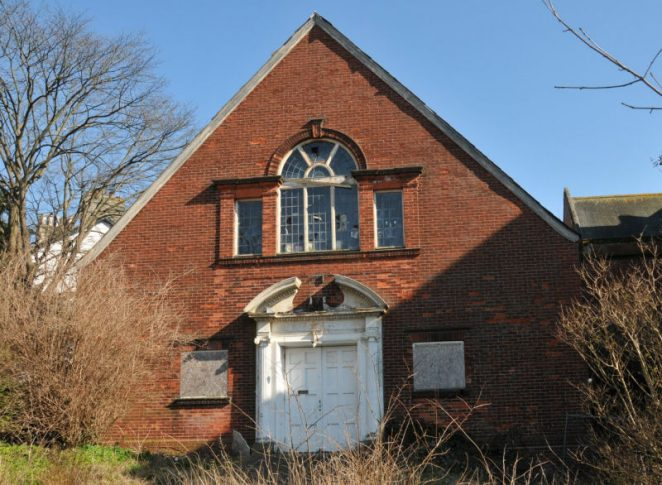 Sadly, St Augustine's Church Hall is now derelict | Photo by Tony Mould