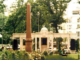 Marble obelisk erected in 1882
