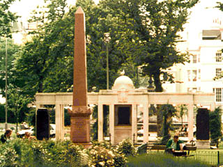 Marble obelisk erected in 1882