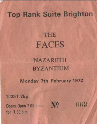 Top Rank ticket | From the private collection of Paul Clarkson