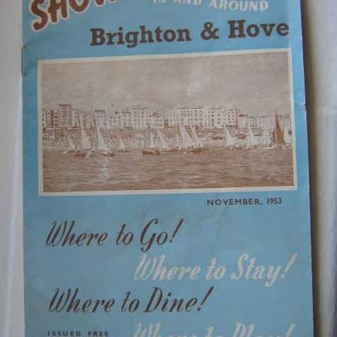 Brighton entertainments 1953 | From the private collection of Paul Clarkson