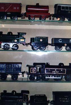 Photograph of model railway engines and stock | Photograph by Zoe Bradford