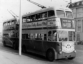 Brighton trolley bus | From the private collection of Martin Nimmo
