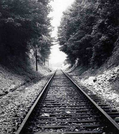 View from the tunnel on Kemp Town Branch Line in about the 1960's | Photo by John Leach