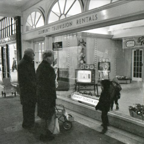 Television shop window c1968 | Photo by Rosalind Merriman