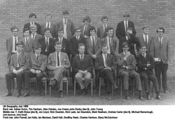 Upper 6th Geography July 1968