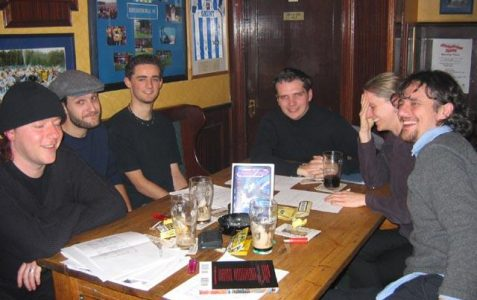 Storyboard artists at the Lord Nelson