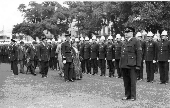 Brighton Borough Police inspection: undated | From the private collection of Michael Chick