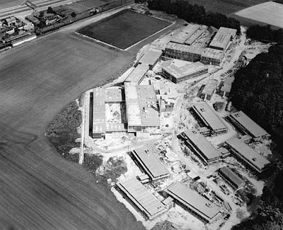 Aerial view of the University of Brighton under construction circa 1970 | From the private collection of Len Williams. Submitted to the website at My Brighton and Hove 1960s photo event at the History Centre, May 2004