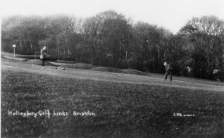 An early hole alongside Hollingbury Woods | HPGC Archive