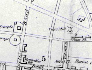 Site of Vine's Mill, c. 1842