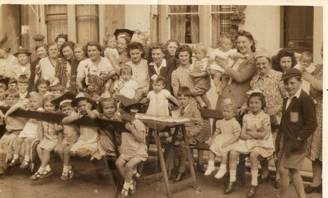 VE Day in Windmill Street | From the private collection of Ann Round