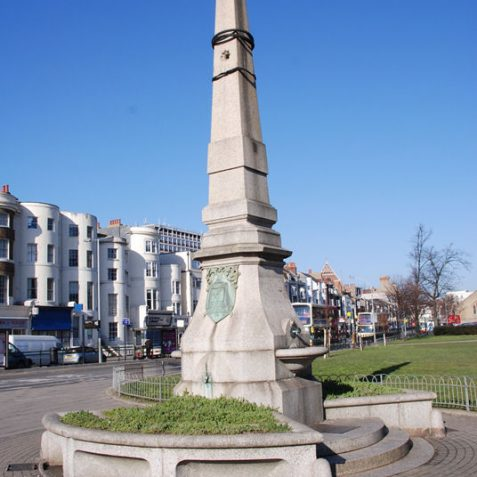 Frederick Chatfield's drinking fountain now re-sited north of Victoria Gardens. | Photo by Tony Mould