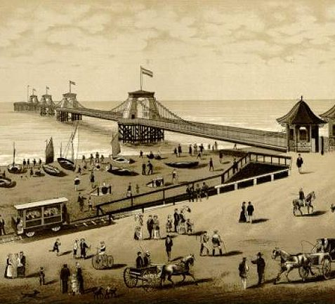 Volk's Railway at the chain pier c. 1895 | Image reproduced with kind permission from Brighton and Hove in Pictures by Brighton and Hove City Council