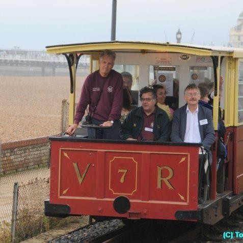 Nicholas Owen enjoying driving the train | Photo by Tony Mould