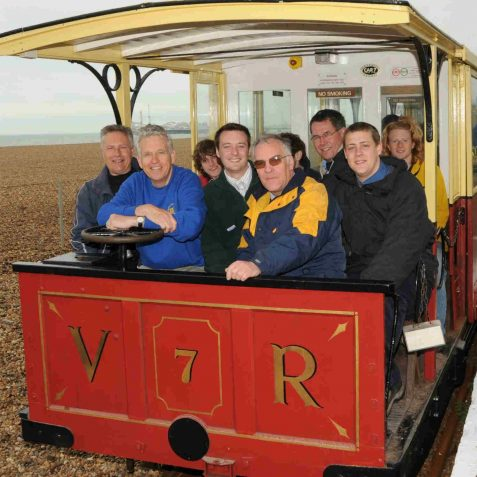 Nicholas Owen enjoying driving the train | Photo by Tony Mould