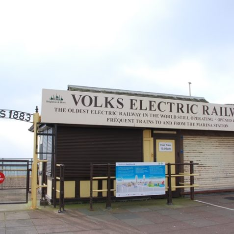 Volk's Electric Railway ticket office. | Photo by Tony Mould