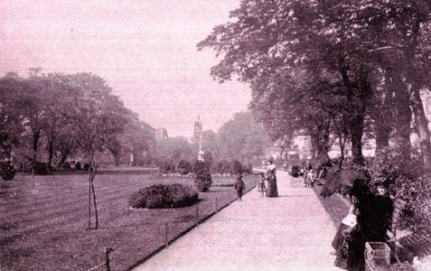 Walking in the gardens c1910