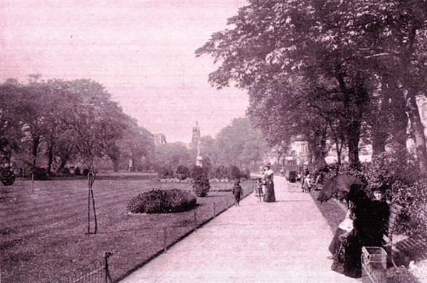 View of Victoria Gardens | Scanned from an original copy of '67 Views of Brighton, Hove and Neighbourhood', circa 1910, by kind permission of David Burgess
