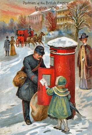 Postmen of the British Empire | Postcard from the private collection of Jennifer Drury