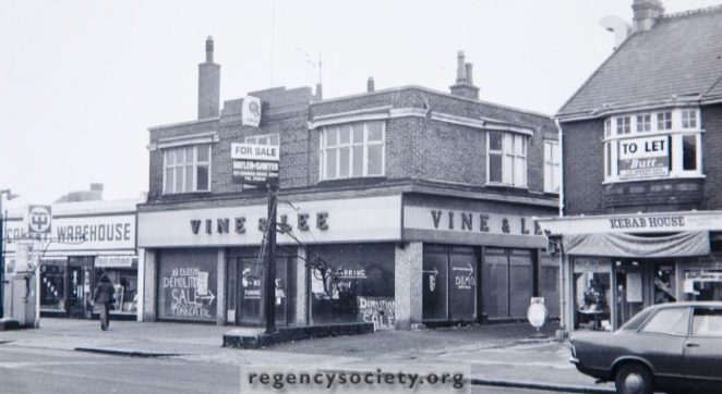 Vine and Lee in 1973 | Image reproduced with kind permission of The Regency Society and The James Gray Collection