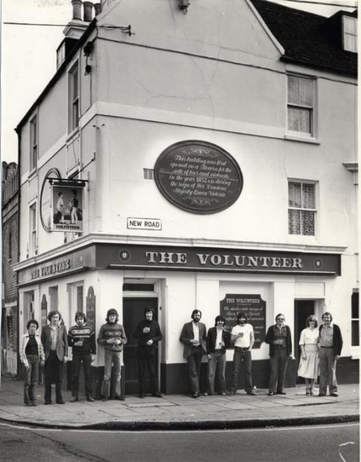 The Volunteer then   Image reproduced with permission from Brighton History Centre