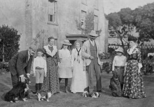 William Cowley (centre) with his family in front of Ovingdean Grange c1895 | Kindly loaned by Mrs Curtis