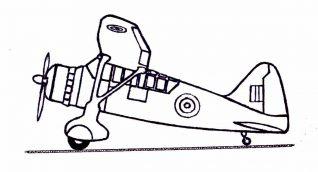 The Westland 'Lysander' aircraft | Original sketch by Bob Herrick