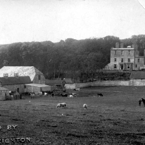 Woodingdean House with the buildings of Woodingdean Farm in the foreground c.1900. | From the private collection of Jennifer Drury