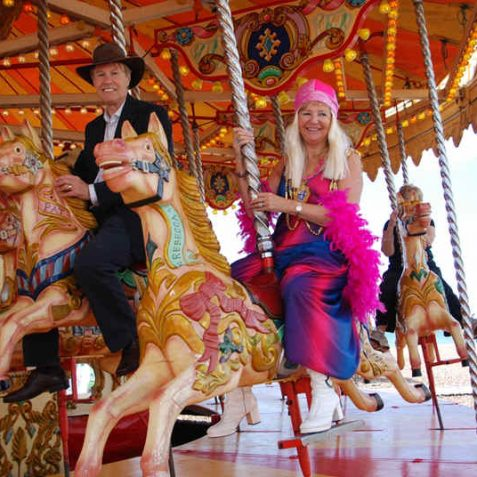 Not every day you see Agnetha on the carousel | Photo by Tony Mould