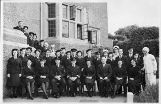 The Wardroom staff at HMS Vernon, the Officers Stewards and Cooks and general domestic staff. Click on photo to open large image in new window. | From the private collection of Nick Lade