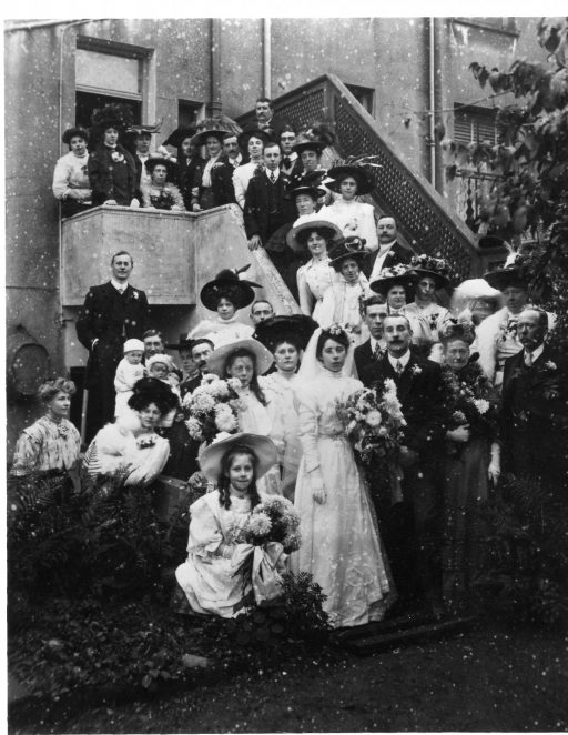 Wedding group 1908 in Clermont Road | From the private collection of Elizabeth Wickstead