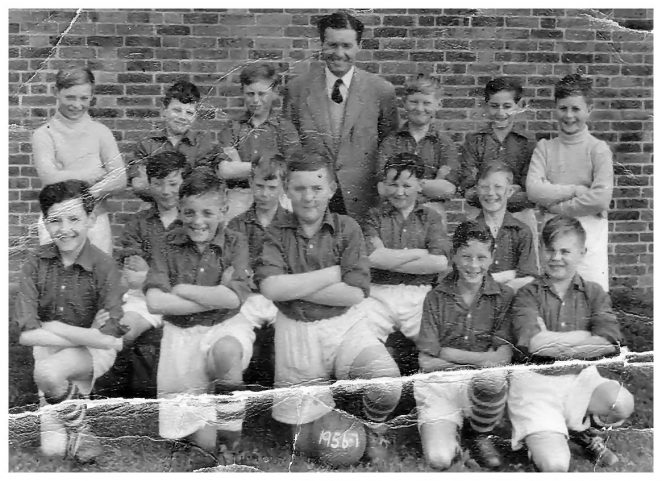 West Blatchington School: First football team 1957/57 | From the private collection of Stan Brand