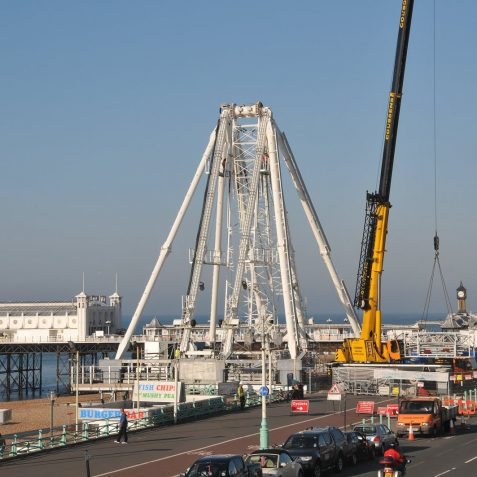 Construction of The Brighton Wheel - click on image for large version | Photo by Tony Mould